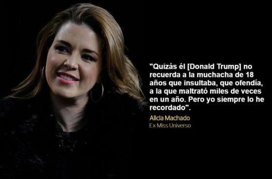 EE.UU.: Las acusaciones de Alicia Machado contra Donald Trump