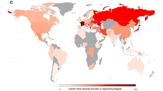 ¿Qué países confían más en las vacunas?