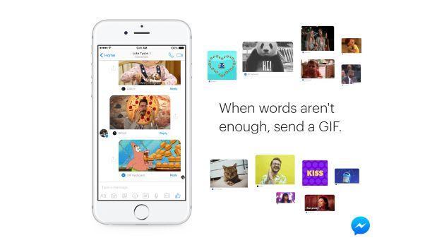 Facebook valora el uso de gifs en su aplicación de mensajería