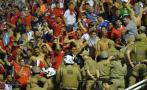 Hinchas de Independiente se enfrentaron a policías brasileños