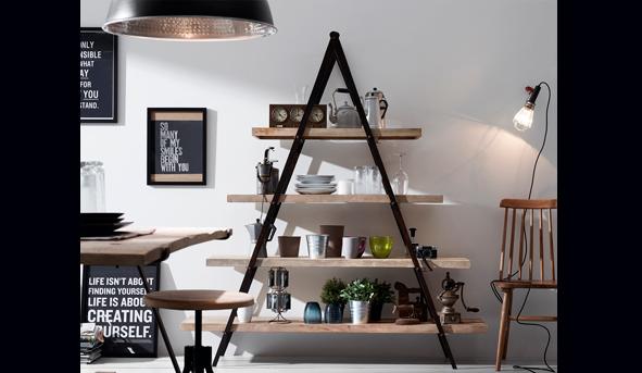 Estanter as de hierro y madera fieles al estilo industrial - Estanterias hierro forjado ...