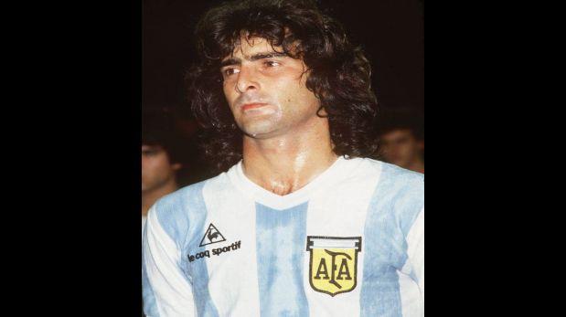 Mario Alberto Kempes en su época de jugador con la camiseta de la selección argentina (Foto: USI / El Comercio)