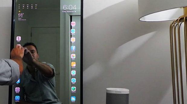 Este espejo es capaz de funcionar con iOS [VIDEO]