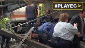 Un muerto y 108 heridos dejó choque de tren en Nueva Jersey