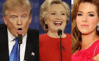 """Trump: Clinton fue usada por la """"estafadora"""" Alicia Machado"""