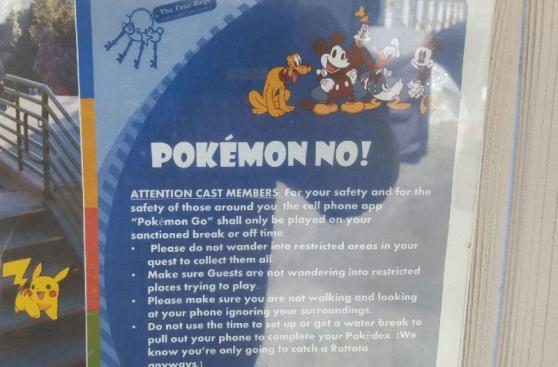 Pokémon Go: restringen su uso a trabajadores de Disneyland