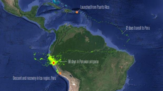 Google puso a prueba sus globos en el Perú