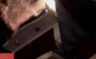 Menor se lanzó desde un tercer piso para salvarse de incendio