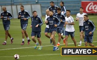 Selección argentina realizó su primer entrenamiento en Lima
