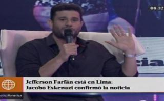 Yaco Eskenazi confirmó que Farfán se encuentra en Lima