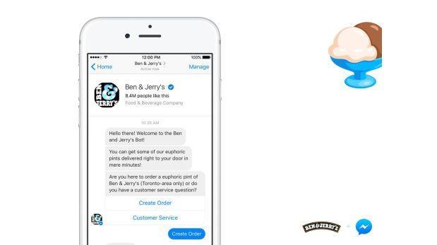 Facebook Messenger ahora vende helados gracias a 'bot' especial