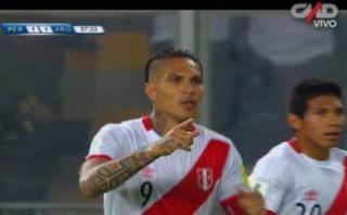 Golazo de Paolo Guerrero: así anotó contra Argentina [VIDEO]