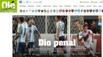 Selección: ¿Qué dijo la prensa argentina del empate en Lima? - Noticias de jan ole kriegs