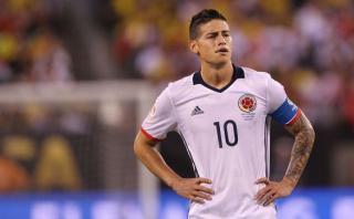 Colombia: James Rodríguez no jugará ante Uruguay este martes