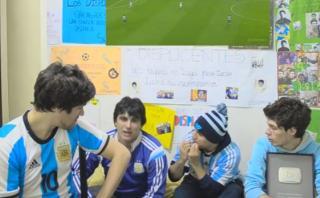 Así vivió el partido contra Perú un grupo de hinchas argentinos