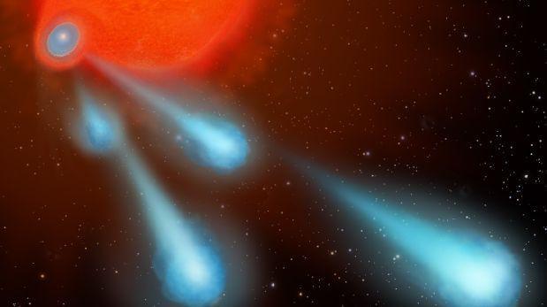 Una estrella estaría disparando enormes burbujas de gas