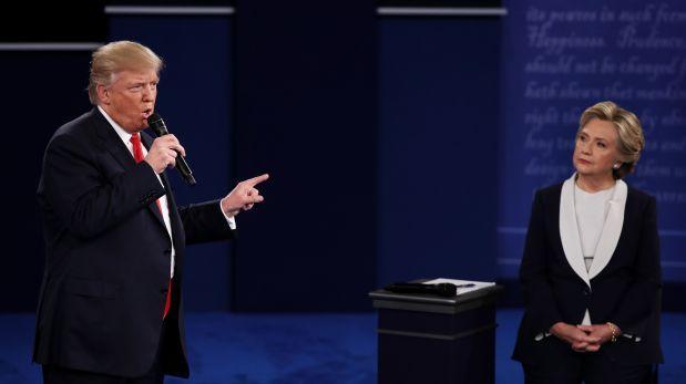 Hillary se impone a Trump en segundo debate presidencial