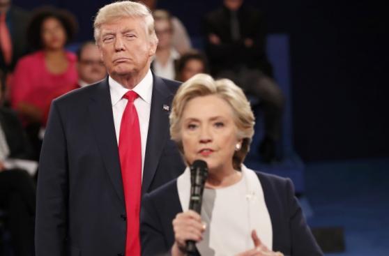 Las mejores fotos del segundo debate entre Clinton y Trump
