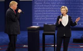 Cinco momentos que marcaron el debate Clinton - Trump
