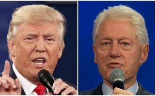"""Trump insiste y llama """"depredador sexual"""" a Bill Clinton"""