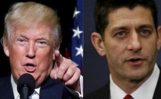 """Trump tilda de """"incompetente"""" al jefe de los republicanos"""