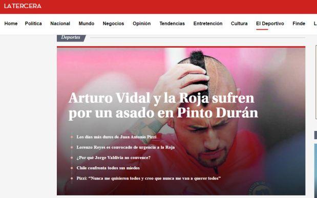 Prensa chilena. (Foto: Captura de Imagen)