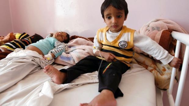 OMS: detectan una decena de casos de cólera en Yemén