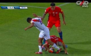 Fue penal: la mano de Chile en el área que el árbitro no cobró