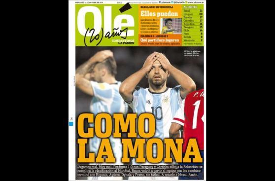 Argentina: la decepción de los medios tras caída ante Paraguay