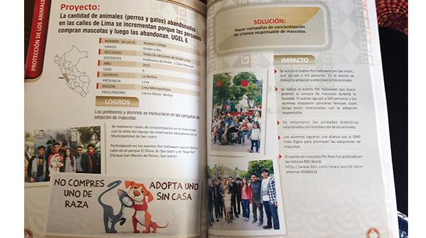 Publicación del proyecto de los estudiantes del Newton College en el libro 'Proyecto Ciudadano, Mejores Ciudadanos 2010 - 2015'.