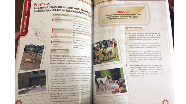 Publicación del proyecto de los estudiantes de la Institución Educativa San Columbano en el libro 'Proyecto Ciudadano, Mejores Ciudadanos 2010 - 2015'.