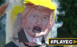 "Manifestantes mexicanos ""le rompen la piñata"" a Donald Trump"