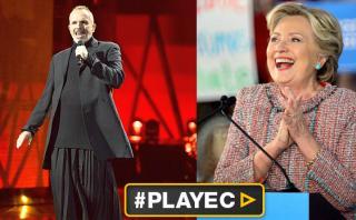 Miguel Bosé ve a Hillary Clinton como presidenta de EE.UU.