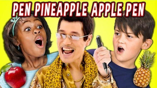 "Así reaccionan los niños al ""Pen Pineapple Apple Pen"" [VIDEO]"