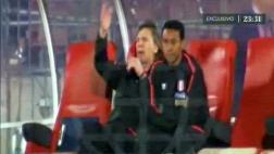 Ricardo Gareca desató su bronca luego del segundo gol de Vidal
