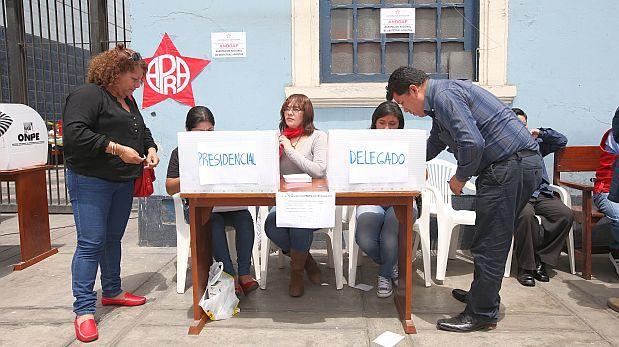 Partido Aprista suspendió temporalmente sus elecciones internas