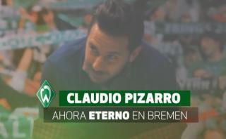 """Pizarro: acto lo convirtió en personaje """"eterno"""" de Bremen"""