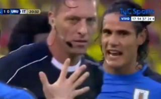 Cavani insultó al árbitro Pitana y juez no lo consignó [VIDEO]