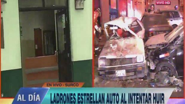 Surco: 'raqueteros' cayeron tras ser perseguidos por víctima