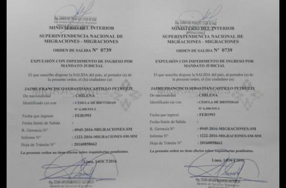 Terrorista del MRTA salió en libertad y fue expulsado a Chile