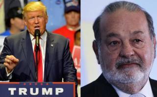 Trump acusa a Slim de estar detrás de acusaciones en su contra
