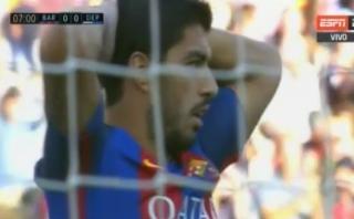Barcelona: Luis Suárez y Neymar fallaron gol en la misma jugada