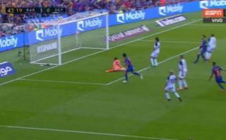 Luis Suárez marcó 3-0 del Barcelona tras genial control [VIDEO]