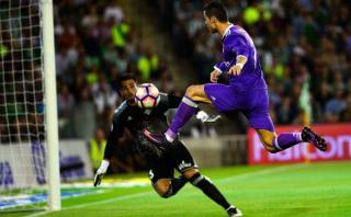 Cristiano Ronaldo falló increíble ocasión de gol ante Betis