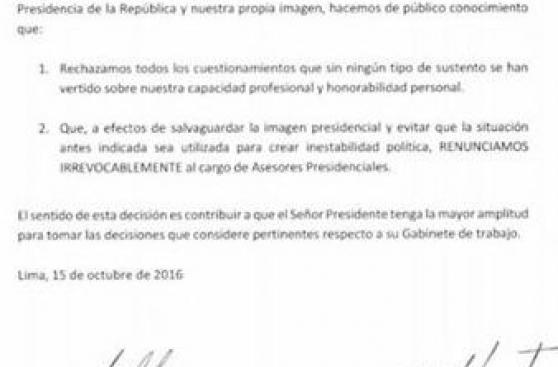PPK: Renunciaron sus asesores José Labán y Jorge Villacorta