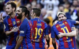 Barcelona goleó al Deportivo la Coruña en el regreso de Messi