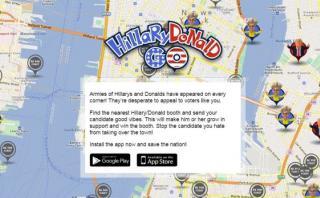 HillaryDonald Go: el app que usa candidatos en vez de pokémones