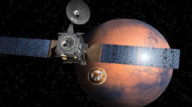 Módulo espacial europeo inició descenso a Marte