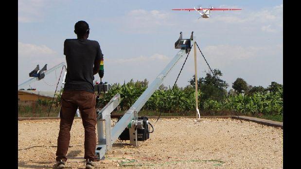 Drones transportan sangre en Ruanda