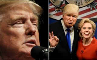 Trump pide sacar programa del aire por parodia de Alec Baldwin